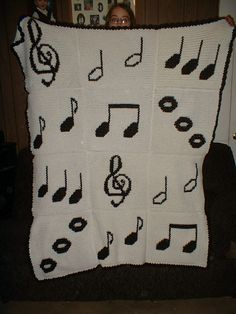 Ravelry: Music afghan pattern by Christine Frazier ~ free pattern