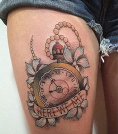 Amazing Clock Tattoo Ideas (11)