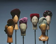 The colors and twists of these turbans, 1940's. Turbans are back, I gotta try this trend using these as inspiration