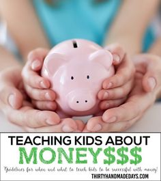 How to help your kids be successful with money. What they should know and at what age. With free printable chart included.