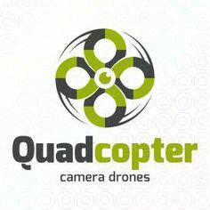 Quadcopter Camera Drones logo #logo #mark #symbol #camera #fly #flight #aerial #helicopter #quadcopter #drone #tv