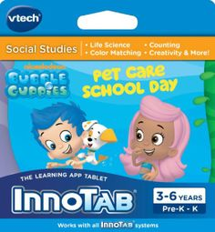 Amazon.com : VTech InnoTab Software - Bubble Guppies : Electronic Learning Aid Notepad System Books : Toys & Games
