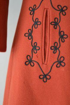 Abrigo de lana Volga / 70s rojo abrigo de lana / por DearGolden