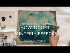 Gelli Plate Printing, Stamp Printing, Printing On Tissue Paper, Gelli Arts, Plate Art, Stencil Painting, Learn To Paint, Art Tutorials, Art Lessons