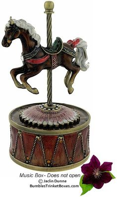 Music Box: Carousel Horse Music Box I have some just like this one. So cool.