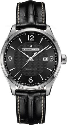 @hamiltonwfan  Jazzmaster Viewmatic #add-content #basel-16 #bezel-fixed #bracelet-strap-leather #brand-hamilton #case-depth-11-64mm #case-material-steel #case-width-44mm #date-yes #delivery-timescale-1-2-weeks #dial-colour-black #gender-mens #luxury #movement-automatic #new-product-yes #official-stockist-for-hamilton-watches #packaging-hamilton-watch-packaging #style-dress #subcat-jazzmaster #supplier-model-no-h32755731 #warranty-hamilton-official-2-year-guarantee #water-resistant-50m