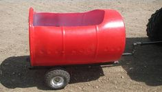 How to Make a Trailer From Plastic Barrels