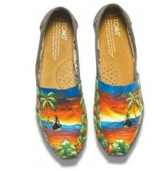 Haitian art Tom's shoes
