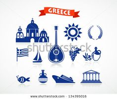 greek pottery icons | Greek pottery Stock Photos, Illustrations, and Vector Art