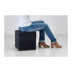 BOSNÄS Fotpall med förvaring - Ransta svart - IKEA