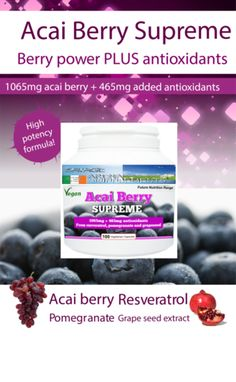 ACAI BERRY SUPREME 1065 mg Vege Capsules