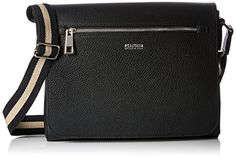 Kenneth Cole Reaction Womens True Stripe Messenger Black *** Check out this great product. Note:It is Affiliate Link to Amazon.