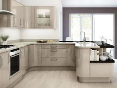 high gloss kitchen cabinets Images {This best image selections about high… High Gloss Kitchen Cabinets, Types Of Kitchen Cabinets, Glossy Kitchen, Painting Kitchen Cabinets White, Kitchen Cabinet Design, Kitchen Paint, Kitchen Interior, New Kitchen, Kitchen Decor