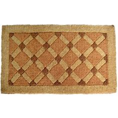 Add a charming accent to the entrance of your home with this Cross Board door mat, featuring a durable, handmade coir construction. This inviting door mat measures 30 inches wide and is recommended for outdoor use.