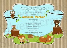 Woodland Forest Animals Custom Baby Shower or by silverscraps, $16.00