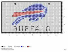 BUFFALO BILLS LICENSE PLATE by TRICIA -- FOOTBALL WALL HANGING