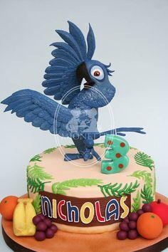 Fancy Cakes, Cute Cakes, Rio Cake, Cake Land, 3rd Birthday, Birthday Ideas, Disney Cakes, Cupcake Cookies, Amazing Cakes