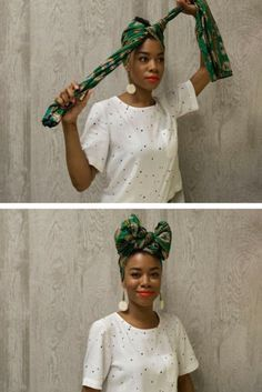 How To Tie A Headwrap In Four Fabulous Ways - head scarf - Hair Dos, Your Hair, Hair Wrap Scarf, How To Wrap Hair, Curly Hair Styles, Natural Hair Styles, African Head Wraps, Turban Style, Bad Hair Day