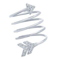 Arrow Spiral Ring - Jewelry Buzz Box  - 1