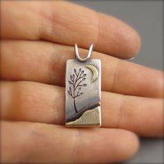 Summer Tree in the Moonlight Mixed Metal by BethMillnerJewelry