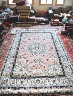 Style: Fine Tabriz Size: 6.6 x 10.4 Design: Floral Material: wool, cotton, silk Origin: Tabriz, Iran Condition: very good Colors: pink, blue,