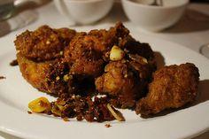 Chengdu dry hot chicken wings at Sichuan Garden II #woburn
