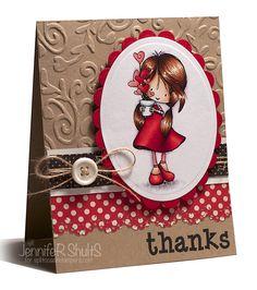 Handmade thank you card using Tiddly Inks Wryn - Grow a Little Love. Oyin Handmade, Handmade Crafts, Diy Crafts, Handmade House, Handmade Jewelry, Handmade Headbands, Handmade Dolls, Handmade Pottery, Earrings Handmade