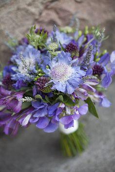 rustic bouquet with lavender alstroemeria