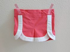 oliver + s class picnic shorts with retro white trim