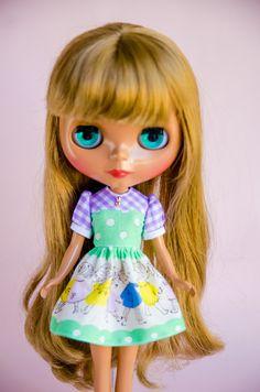Retro Children, Handmade Dress for Neo Blythe Doll by Plastic Fashion by PlasticFashion on Etsy
