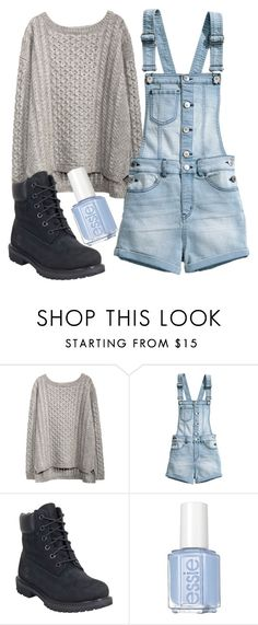 """Wish I had this!!!"" by kaitlynbug1226 ❤ liked on Polyvore featuring H&M, Timberland and Essie"