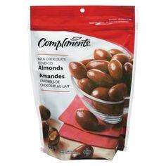 Friandises chocolatées amandes enrobées de chocolat au lait