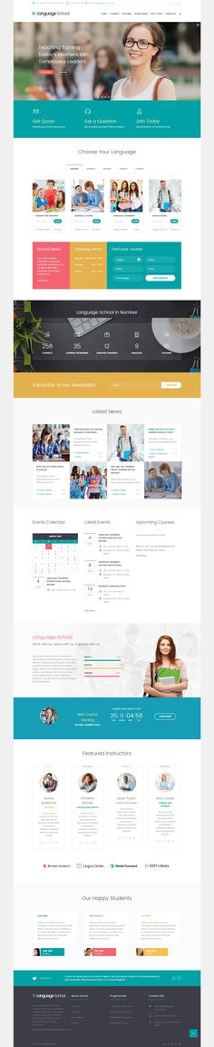 Language School – Courses & Learning Management System WordPress #Template is a powerful tool to create a #website for any school, courses, training and other learning and education website. The theme features functionality that will satisfy any learning, teaching and other education needs, including Timetable integration, full support for The Events Calendar plugin, support for LearnPress plugin many many features: