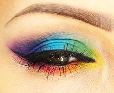 Rainbow Eye    #makeup #eye