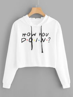 To find out about the Letter Print Hoodie Sweatshirt at SHEIN, part of our latest Sweatshirts ready to shop online today! Hoodie Sweatshirts, Cute Comfy Outfits, Casual Outfits, Teen Fashion Outfits, Girl Outfits, Belly Shirts, Crop Top Hoodie, Crop Top Outfits, Cute Crop Tops
