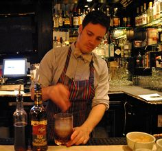 Colt & Gray's Kevin Burke mixing up #cocktails