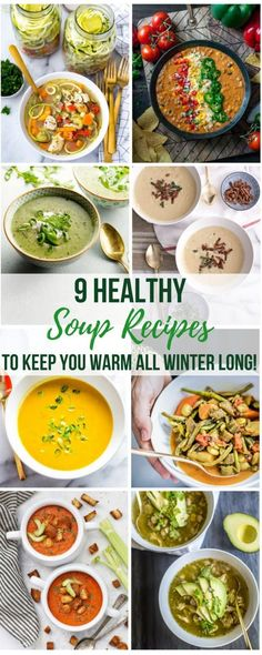 When it's cold outside, our bodies crave warm, nourishing food - and what's better in the winter than satisfying soup?! These 9 tasty and healthy soup recipes are chock full of nutrient-dense, seasonal ingredients that are guaranteed to keep your body warm and your belly full this winter!