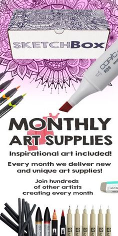 Makes a great gift for any artist! Every month we deliver new and unique art supplies for you to try.  Join the hundreds of other artists creating every month.: