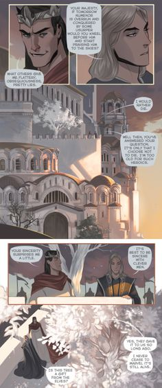 And some comics, good people helped me to translate it Sauron at his first days in Numenor and one of his first conversations with Ar-Pharazon. I have a lot of words to say about it, but I can't,...