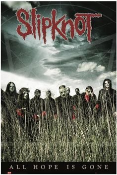 "Poster verticale ""All Hope Is Gone"" degli #Slipknot. Dimensioni: 61 x 91,5 cm."