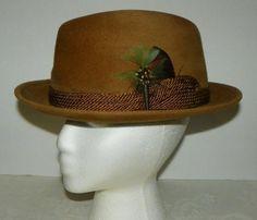Vintage Beige Stevens Fedora Beaver Blend Hat 7-71 8 Feather Trim  Stevens 3a76e6c96cc2