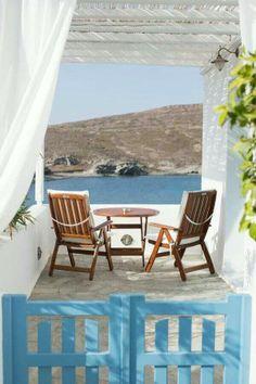 Mediterranean Living| Serafini Amelia| Experience the Mediterranean Lifestyle| Balcony with view, Milos island, Greece