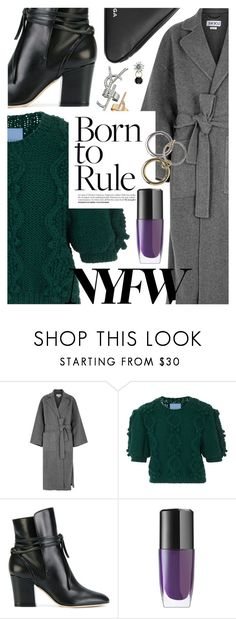 """""""What to Wear to NYFW"""" by cultofsharon ❤ liked on Polyvore featuring Loewe, macgraw, Sergio Rossi, Lancôme and Balenciaga"""