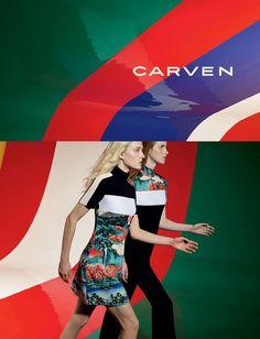 Carven S/S 2015 | Maja Salamon, Magdalena Jasek & Karlis Adlers by Viviane Sassen [Campaign]