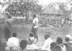 The Samoa Islands by Dr Augustin Kramer 1901 A gathering.