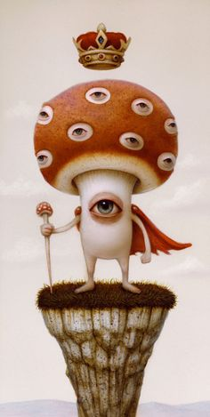 Naoto Hattori is an artist from Yokohama, Japan who has a true talent for painting outlandish and bizarre, yet unbelievably realistic works of art. His paintings depict indescribable forms of.View More → Surealism Art, Mushroom Art, Arte Horror, Lowbrow Art, Weird Art, Psychedelic Art, Surreal Art, Art Inspo, Art Drawings