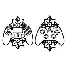 thought it was only right I showed a little love to the PlayStation side too  #tattoo #flash #design