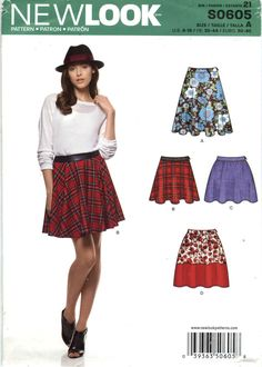 New Look 0605 Misses' Skirt Seven Sizes in One
