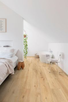 Sustainable City, Interior Design Images, Wooden Flooring, Home Bedroom, Interiores Design, Future House, Interior Inspiration, Terrazzo, Loft