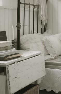 books on a nightstand